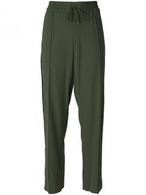 Спортивные брюки с лампасами Kenzo. Цвет: зелёный