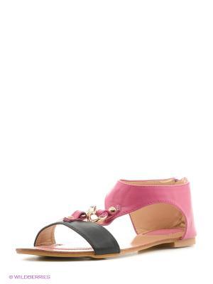 Сандалии Vitacci. Цвет: черный, розовый