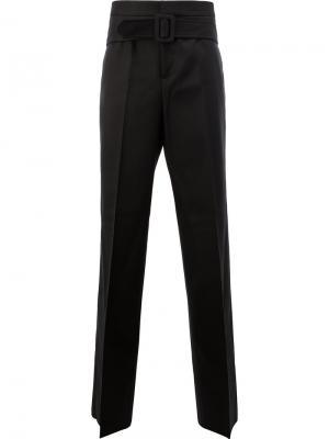 Строгие брюки с поясом Yang Li. Цвет: чёрный