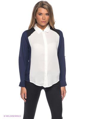 Блузка Kira Plastinina. Цвет: темно-синий