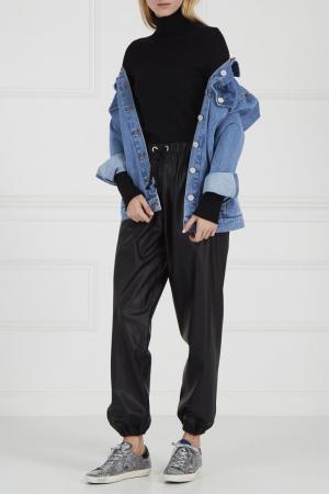 Черные широкие брюки Natasha Zinko. Цвет: черный