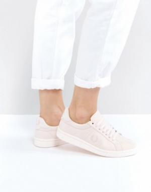 Fred Perry Хлопковые кроссовки B721. Цвет: розовый