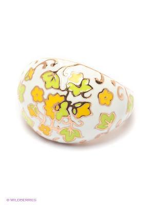 Кольцо SOKOLOV. Цвет: салатовый, желтый, белый
