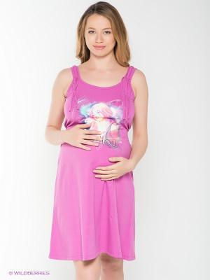 Сарафан для беременных 40 недель. Цвет: сиреневый