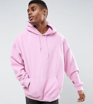 Reclaimed Vintage Oversize-худи из розового окрашенного трикотажа Insp. Цвет: розовый