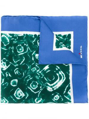 Карманный платок с принтом тай-дай Kiton. Цвет: зелёный