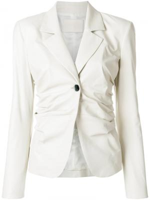Gathered side blazer Drome. Цвет: белый