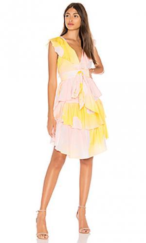 Платье jetset Cynthia Rowley. Цвет: желтый