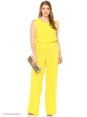 Комбинезон Milana Style. Цвет: желтый