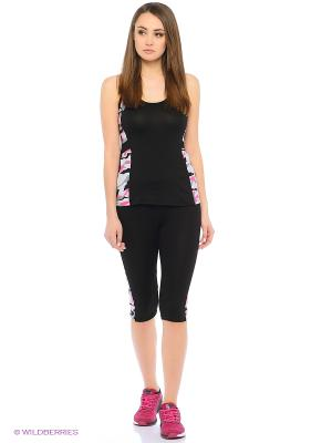 Спортивный костюм FORLIFE. Цвет: черный, розовый