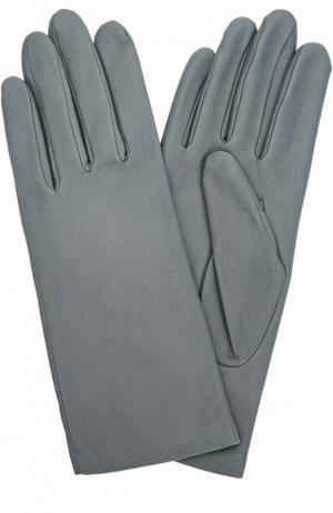 Кожаные перчатки с подкладкой из кашемира и шерсти Agnelle. Цвет: темно-синий