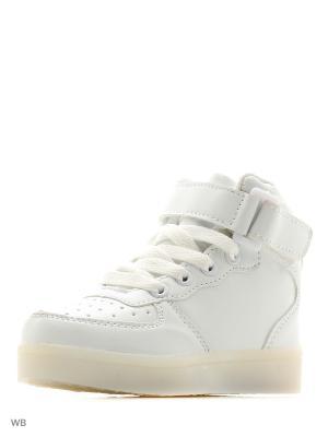 Светящиеся кроссовки Kids Street LedShoes. Цвет: белый