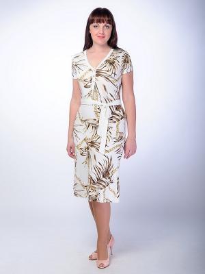 Платье Begood. Цвет: коричневый, молочный