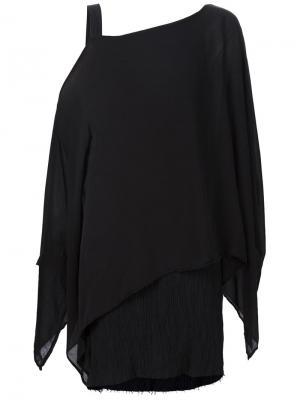One shoulder asymmetric tunic Lost & Found Ria Dunn. Цвет: чёрный