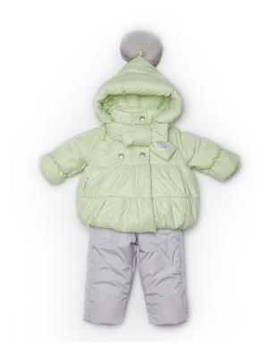Куртка, полукомбинезон MaLeK BaBy. Цвет: салатовый