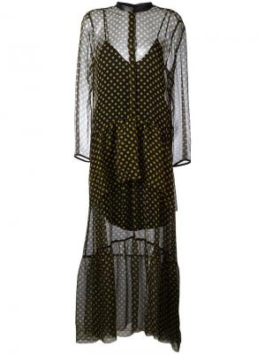Платье в горошек Petar Petrov. Цвет: чёрный