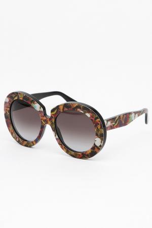 Очки солнцезащитные Valentino. Цвет: желто-коричневый