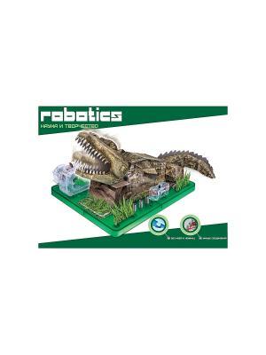 Научный опыт Крокодил на батарейках, в коробке Amazing Toys. Цвет: зеленый, темно-зеленый, коричневый
