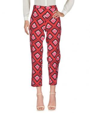 Повседневные брюки 1-ONE. Цвет: красный