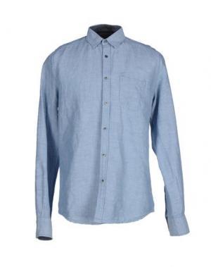 Джинсовая рубашка GILDED AGE. Цвет: синий