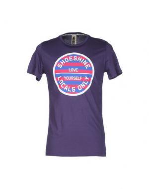 Футболка SHOESHINE. Цвет: фиолетовый