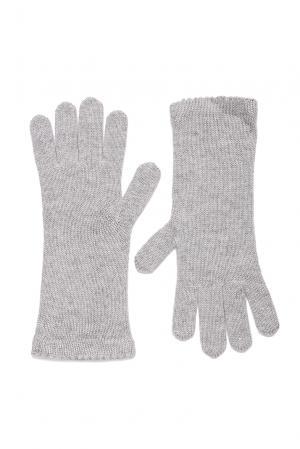 Кашемировые перчатки с шелком 173084 Andre Maurice. Цвет: серый