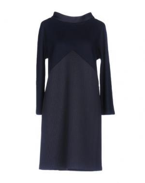 Короткое платье BARBON. Цвет: темно-синий