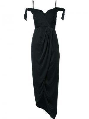Драпированное коктейльное платье Zimmermann. Цвет: чёрный