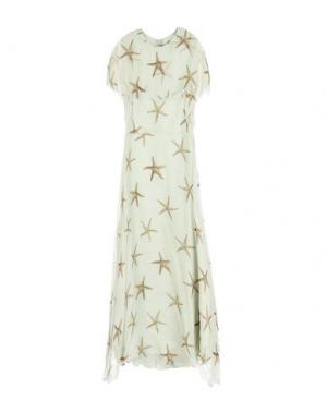 Длинное платье VALENTINO. Цвет: светло-зеленый
