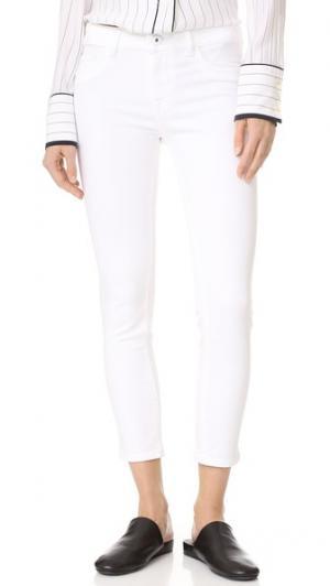 Укороченные джинсы-скинни Florence DL1961. Цвет: фарфоровый