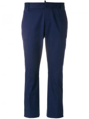 Укороченные классические брюки Dsquared2. Цвет: синий