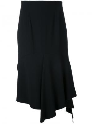 Драпированная юбка асимметричного кроя Goen.J. Цвет: чёрный