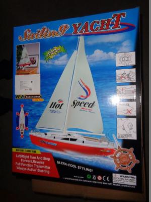 Яхта с парусом на р/у, 38 см 1Toy. Цвет: красный, белый