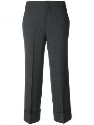 Укороченные брюки с подвернутыми манжетами Pt01. Цвет: серый