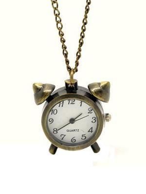 Кулон-часы Будильник Mitya Veselkov. Цвет: бронзовый
