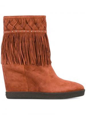 Ботинки на потайной платформе Le Silla. Цвет: коричневый