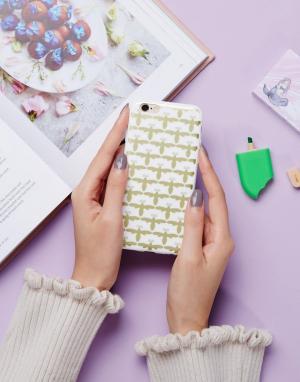 SIGNATURE Чехол для Iphone 6 с принтом пчелы. Цвет: золотой