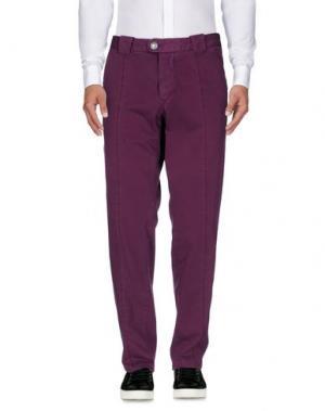 Повседневные брюки BARBA Napoli. Цвет: пурпурный