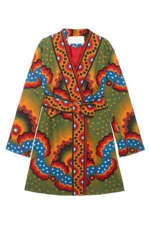 Платье-халат с принтом Valentino. Цвет: multicolor