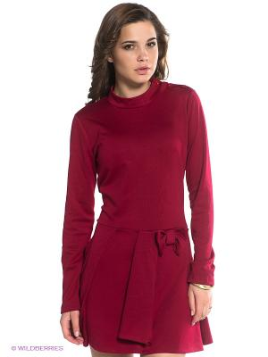 Платье BSB. Цвет: бордовый