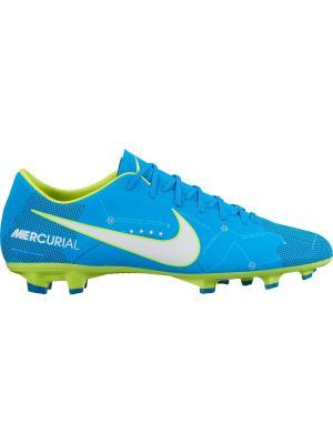 Бутсы MERCURIAL VICTORY VI NJR FG Nike. Цвет: синий, белый