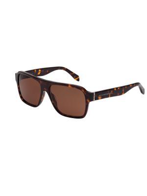 Солнцезащитные очки Alexander McQueen. Цвет: коричневый