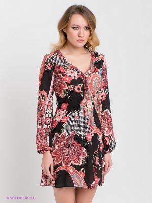 Платье Nolita. Цвет: черный, оранжевый