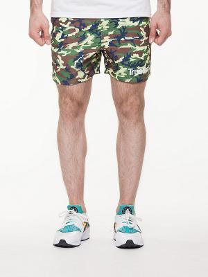 Шорты TRUESPIN Camo Shorts True Spin. Цвет: хаки