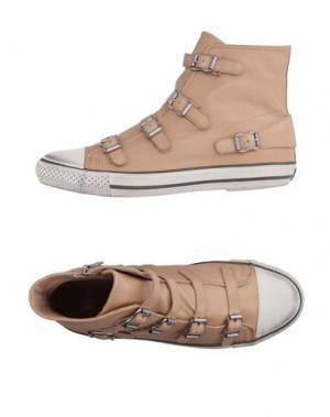 Высокие кеды и кроссовки ASH. Цвет: песочный