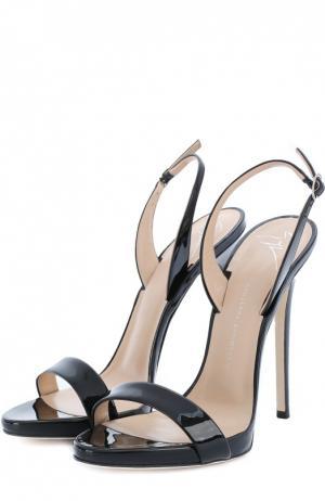 Лаковые босоножки Sophie на шпильке Giuseppe Zanotti Design. Цвет: черный