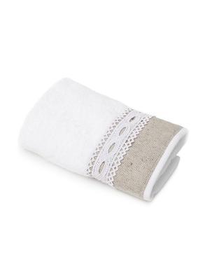 Полотенце для ванной 30х50 см Soledad WESS. Цвет: бежевый, белый