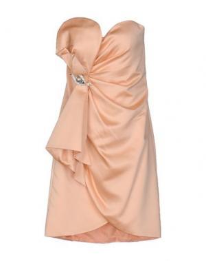 Короткое платье MUSANI COUTURE. Цвет: абрикосовый