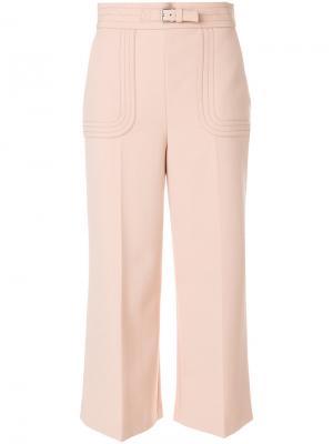 Укороченные брюки  с завышенной талией Red Valentino. Цвет: розовый и фиолетовый