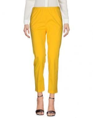 Повседневные брюки QL2 QUELLEDUE. Цвет: желтый
